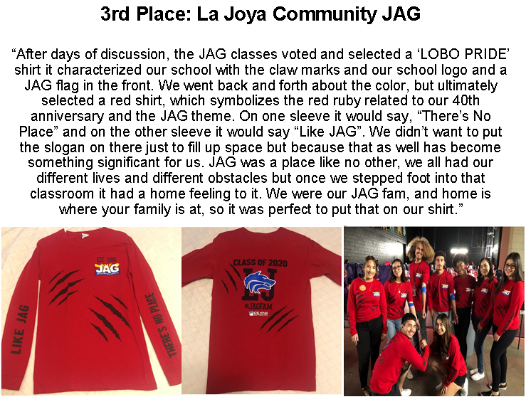 La Joya Community JAG Upper Apparel