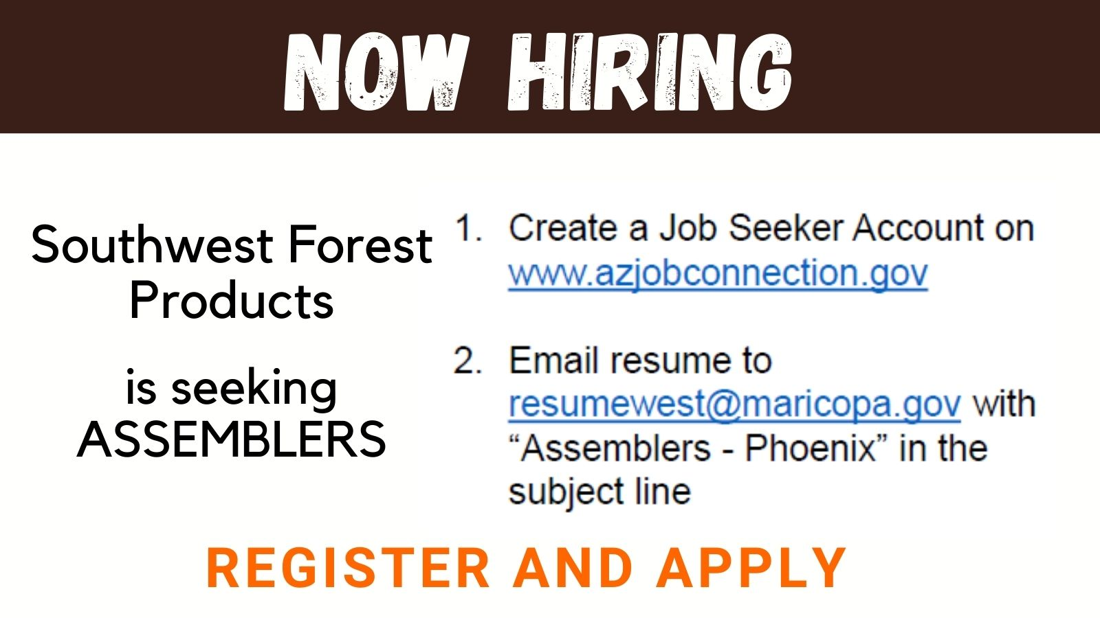 Southwest Forest Assembler Job
