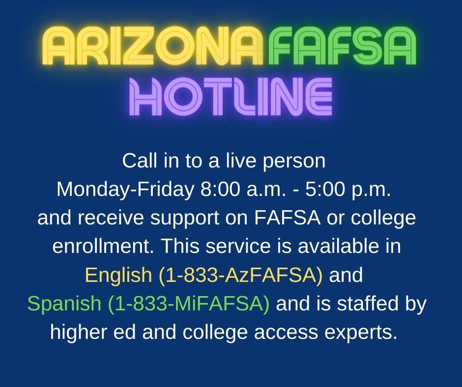 FAFSA Arizona Hotline
